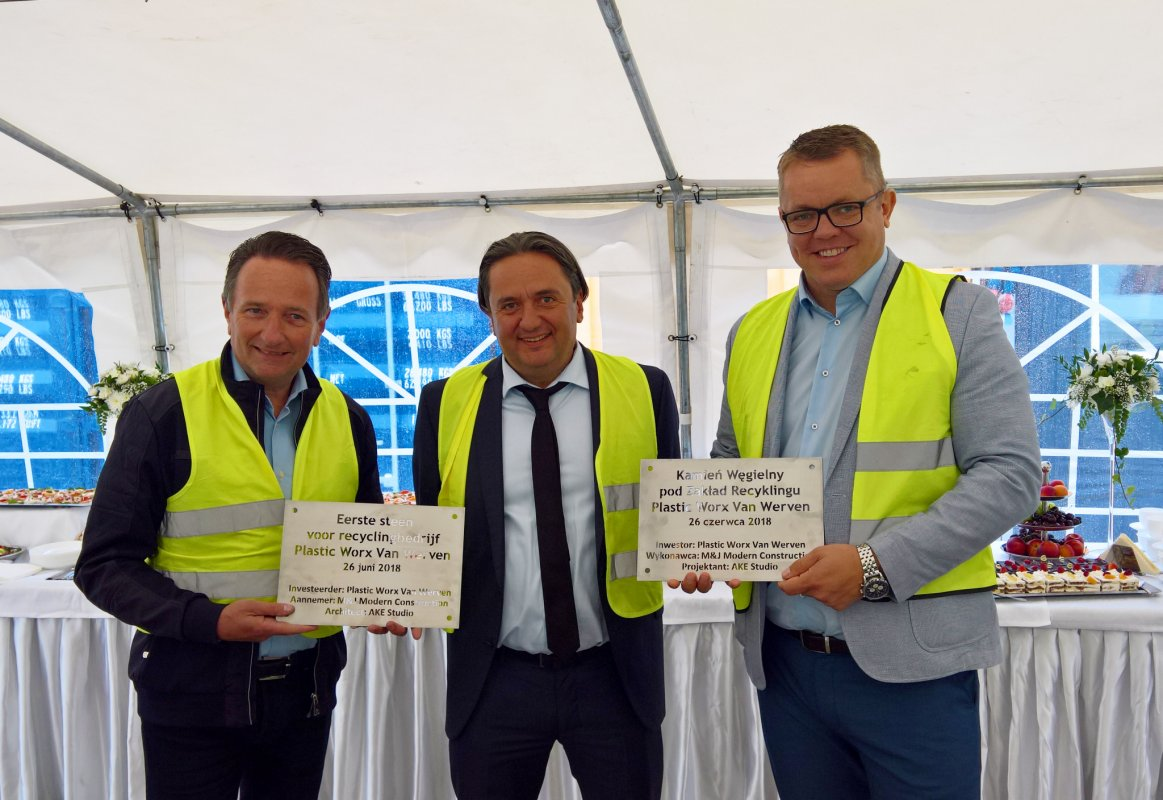 First brick of a new plastic recycling plant in Poland